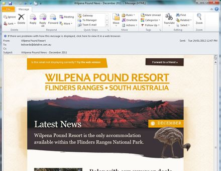 Wilpena Pound Resort Newsletter