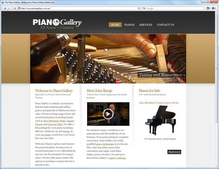 Piano Gallery Home